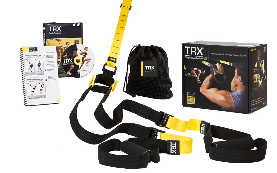 Click here to get the highly recommended TRX Suspension Training Pro Pack. It's fun, cheap, will kick your butt, and you won't have to dress like a fireman! Unless you actually want to do so. Then in that case, it's also nice that you can work out without leaving home!