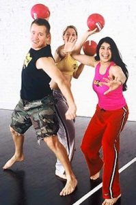 Dodge Ball - Work Out Your Frustrations - Here's A Bunch Of Goofballs Getting Ready To Peg Someone In A Game Of Dodgeball.